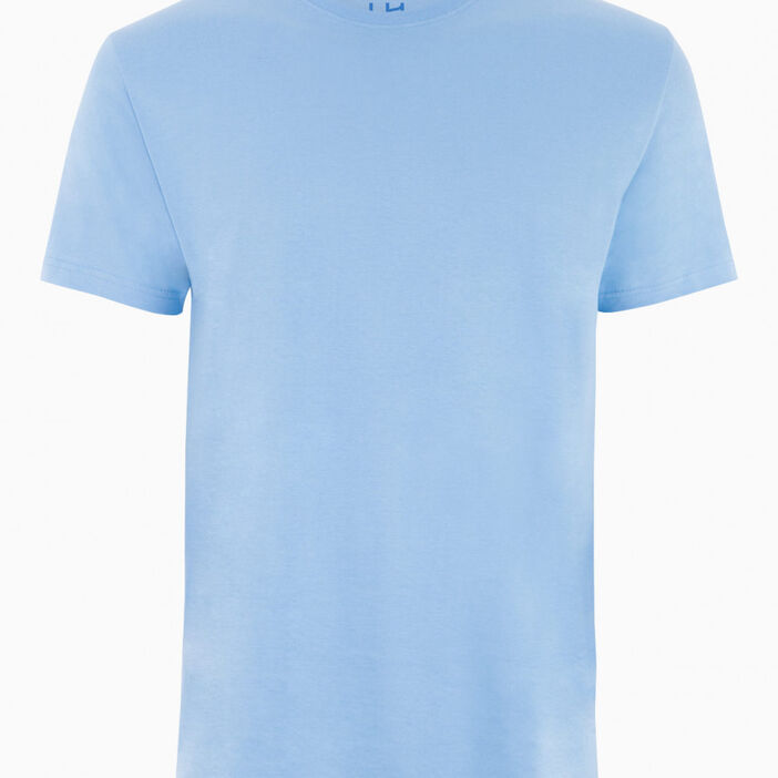 T-shirt col rond uni homme bleu ciel