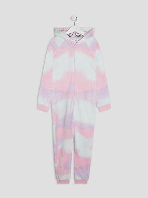 Combinaison de pyjama rose clair fille