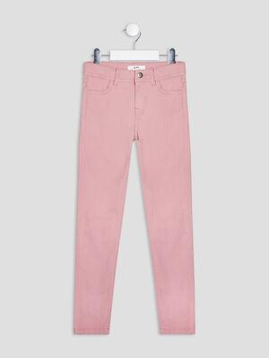 Pantalon skinny rose fille