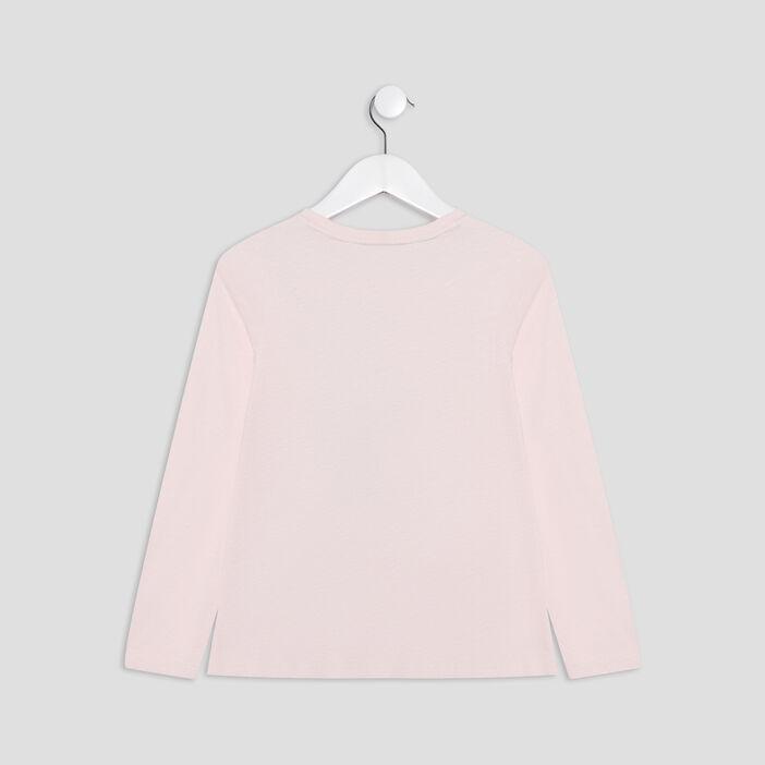 T-shirt manches longues Mulan fille rose