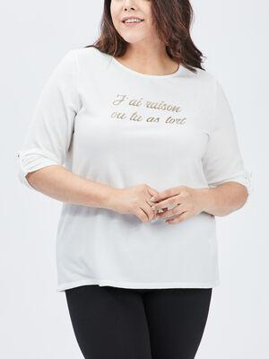 T shirt ecru femmegt