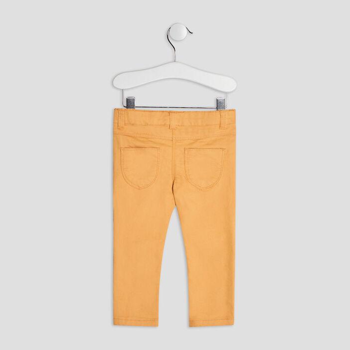 Pantalon slim bébé fille jaune moutarde