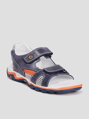 Sandales en cuir Creeks bleu garcon