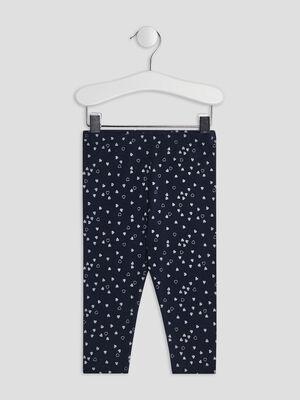 Pantalon legging bleu marine bebef