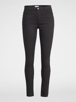 Pantalon skinny uni gris fonce femme