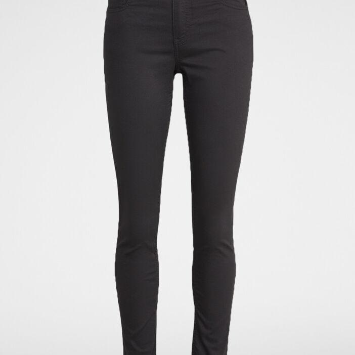 Pantalon skinny uni femme gris foncé
