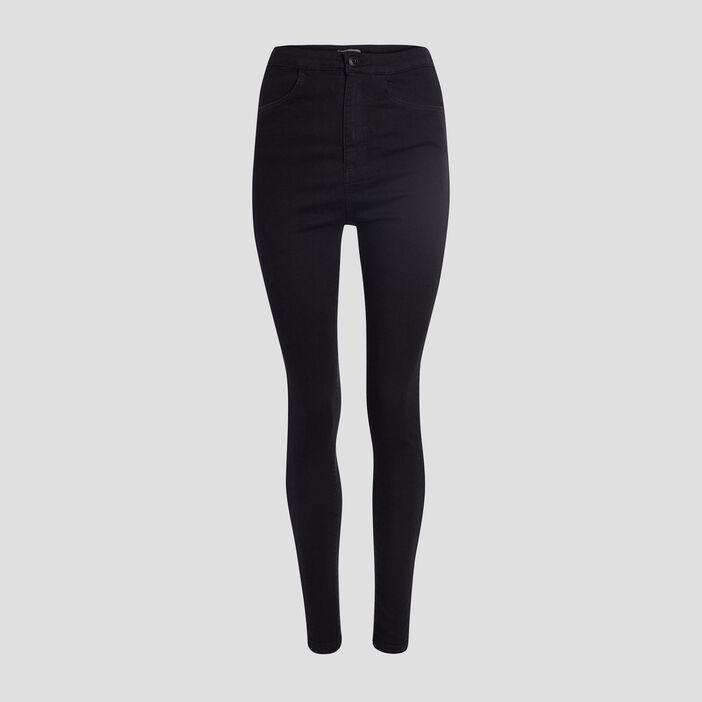 Jeans skinny taille haute femme noir