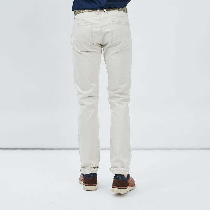 Pantalon droit avec ceinture homme ecru