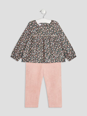 Ensemble 2 pieces rose bebef