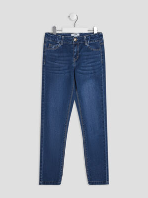 Jeans slim delave denim stone fille