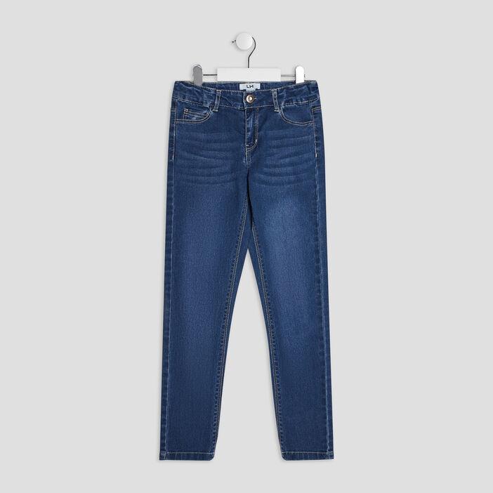 Jeans slim délavé fille denim stone