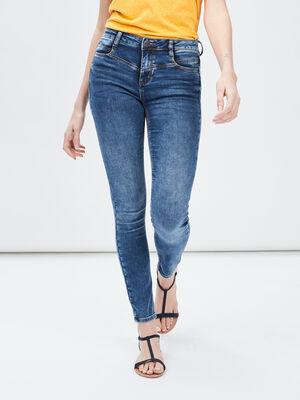 Jeans slim Creeks denim double stone femme