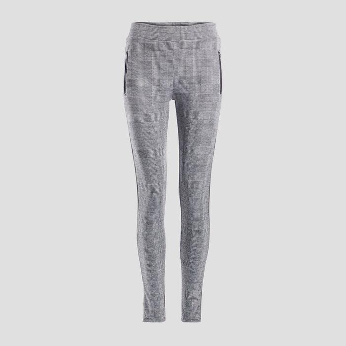 Pantalon legging femme ecru
