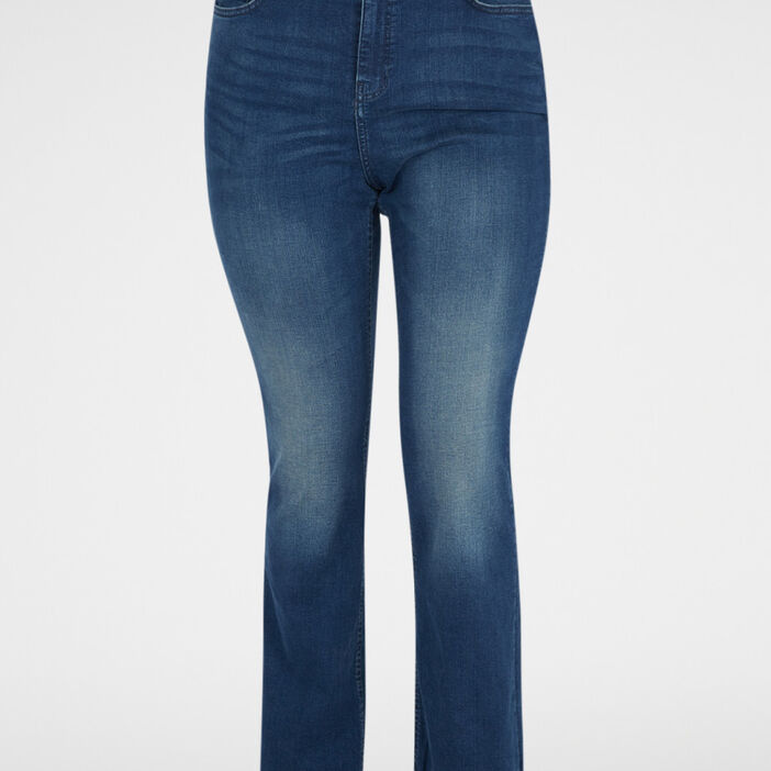 Jeans bootcut femme grande taille denim dirty