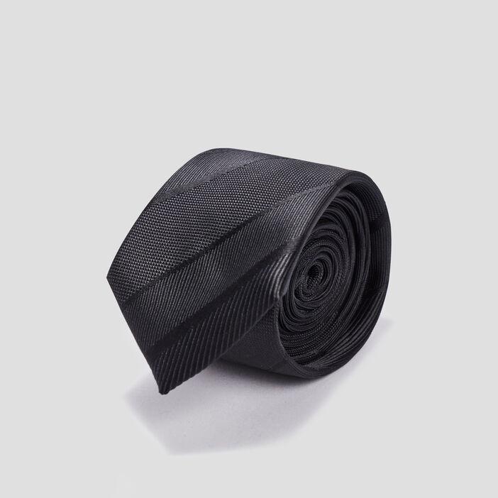 Cravate texturé  noir