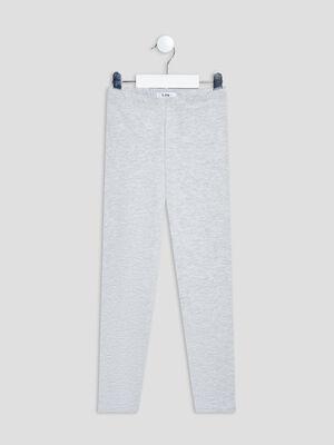 Pantalon legging gris fille