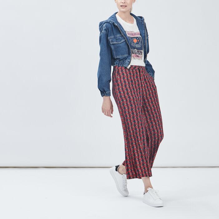 Veste ajustée en jean femme denim stone