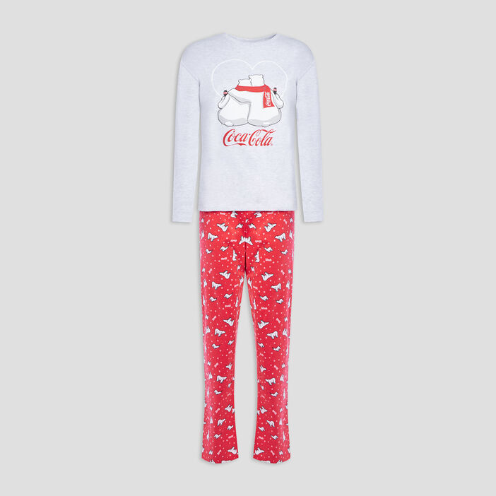 Ensemble pyjama Coca-Cola femme gris