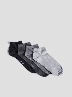Socquettes gris homme