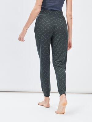 Pantalon de pyjama vert kaki femme