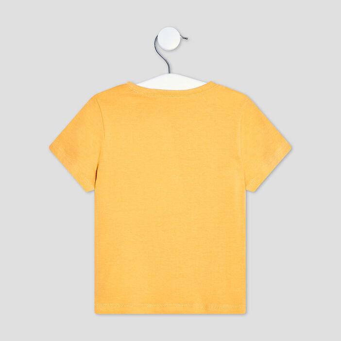 T-shirt manches courtes bébé garçon jaune moutarde