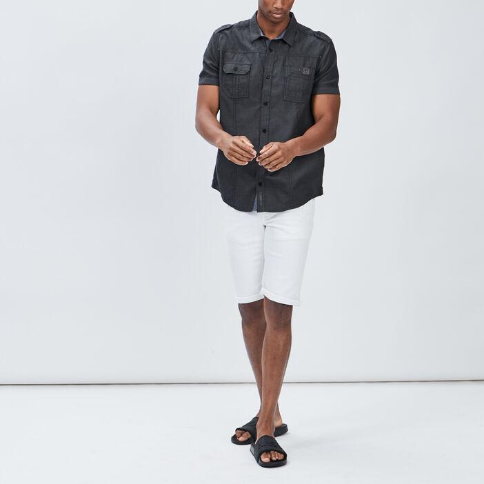 Chemise manches courtes Creeks homme noir