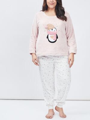 Ensemble pyjama grande taille rose femmegt