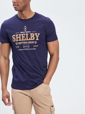 T shirt Peaky Blinders bleu marine homme