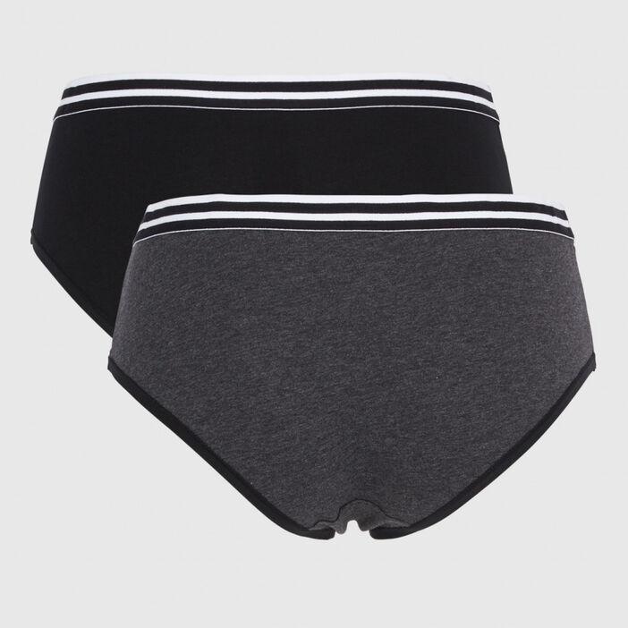 Lot de 2 boxers Lilou femme gris foncé