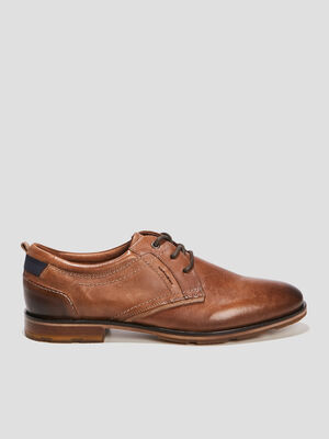 Derbies en cuir marron homme