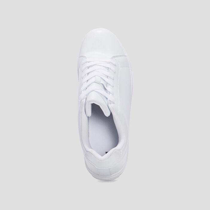 Baskets plates homme blanc