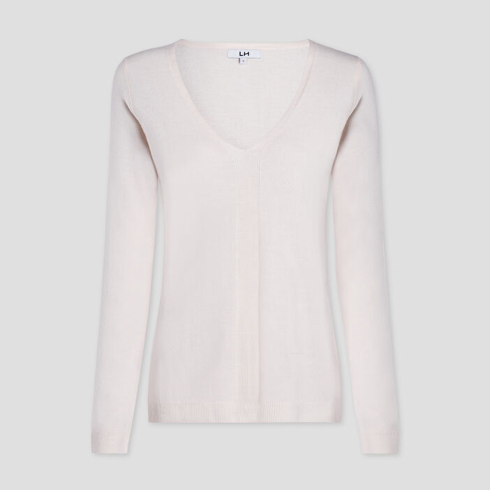 Pull manches longues femme rose clair