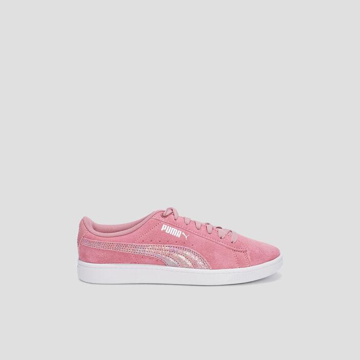Tennis en cuir Puma fille rose