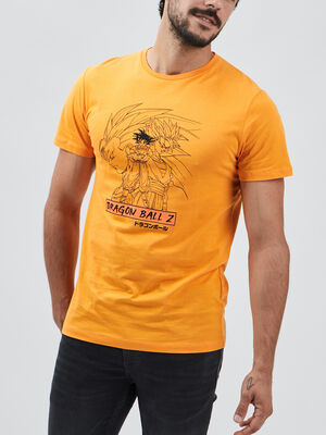 T shirt Dragon Ball Z orange homme