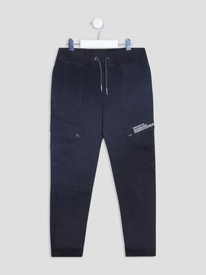 Pantalon cargo noir garcon