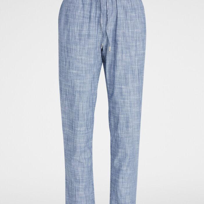 Pantalon à taille élastiquée femme bleu marine