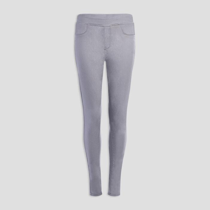 Pantalon jegging femme gris
