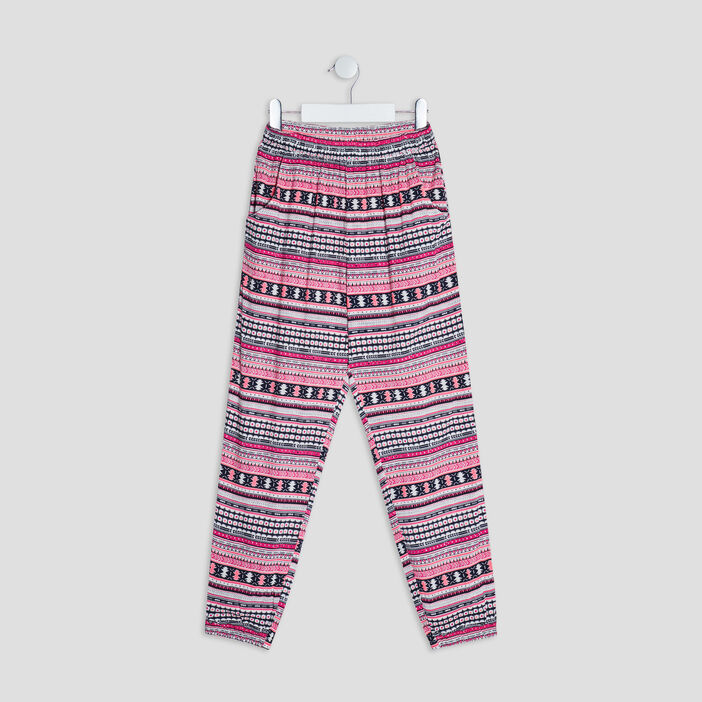 Pantalon jogging fille multicolore