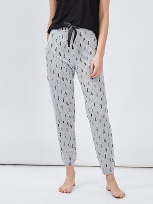 Pantalon de pyjama gris femme