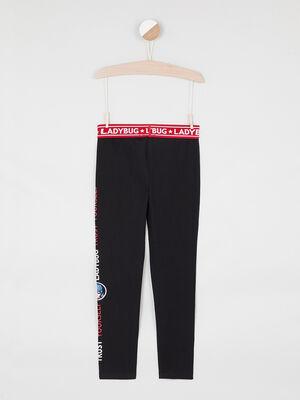 Legging Miraculous elastique avec motifs noir fille