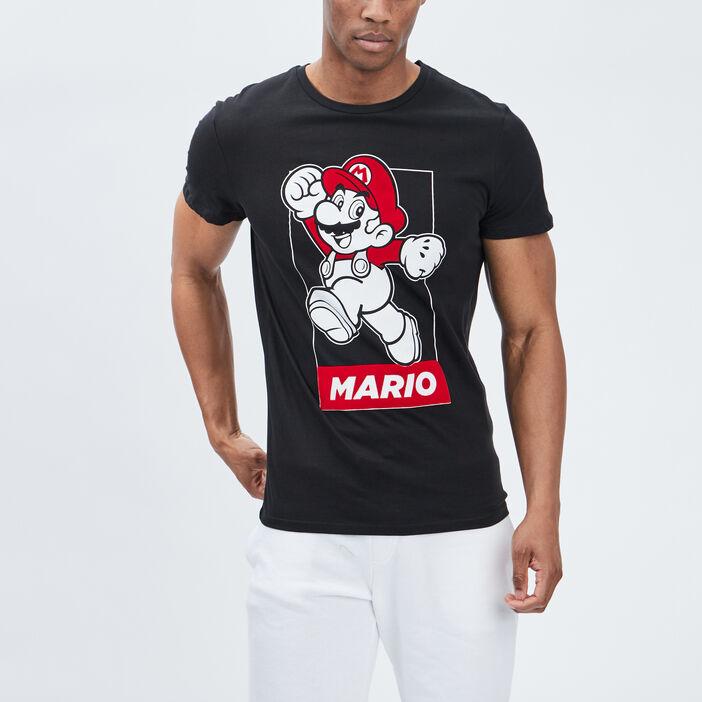 T-shirt manches courtes Mario homme noir