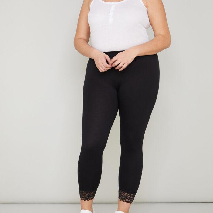 Legging avec dentelle grande taille femme noir