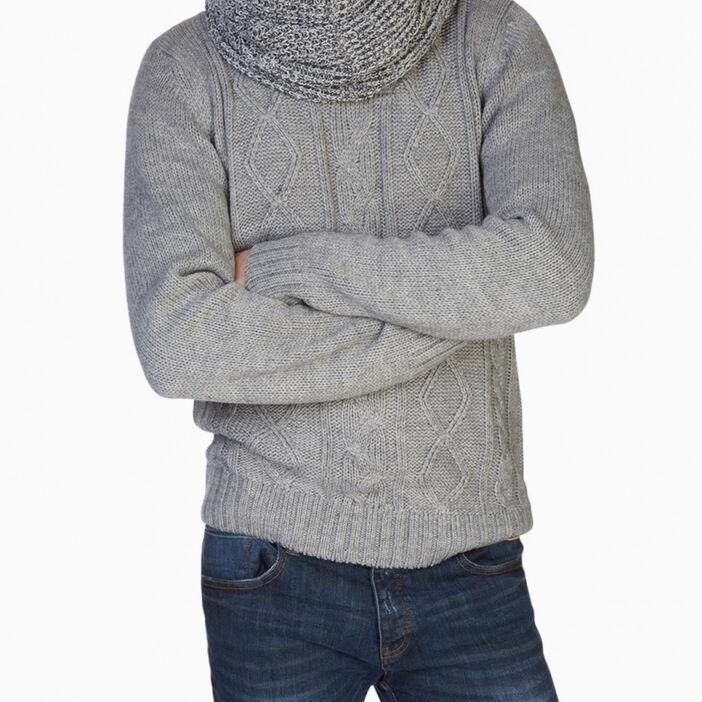 Tour de cou chiné homme gris
