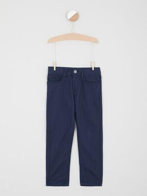 Pantalon regular uni bleu marine garcon