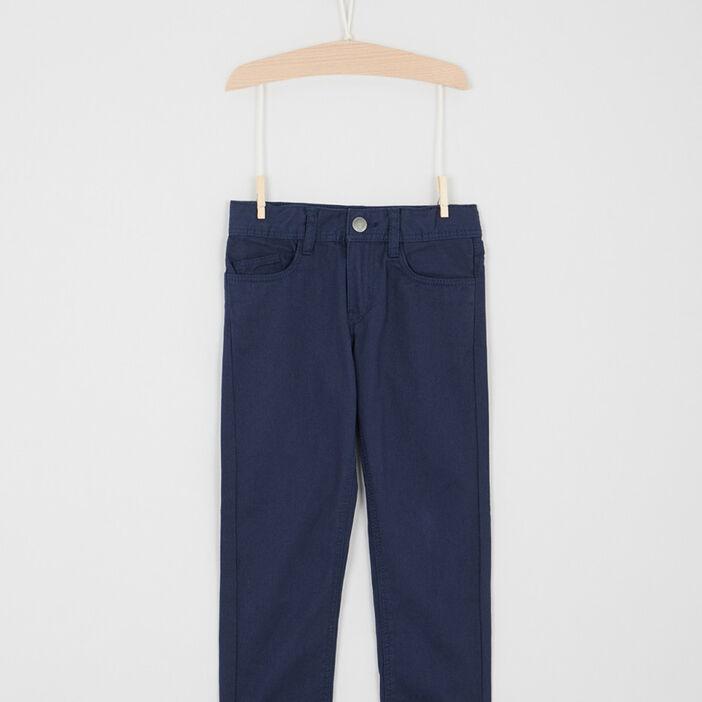 Pantalon regular uni garçon bleu marine