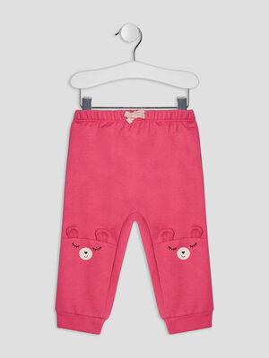 Pantalon jogging rose fushia bebef