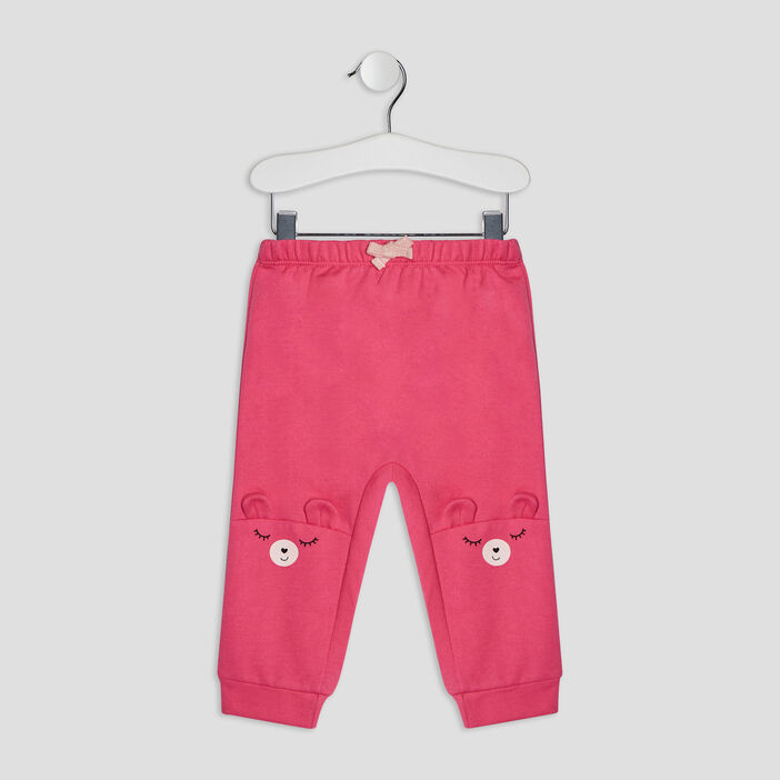 Pantalon jogging bébé fille rose fushia