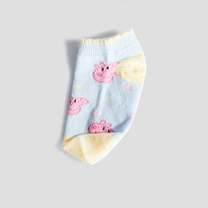 Lot 3 paires de socquettes Peppa Pig fille rose