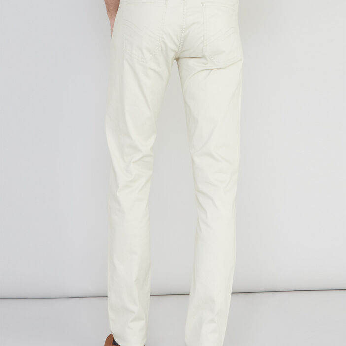 Pantalon avec ceinture tressée homme ecru