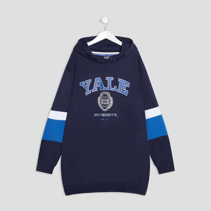 Robe ample à capuche Yale fille bleu marine